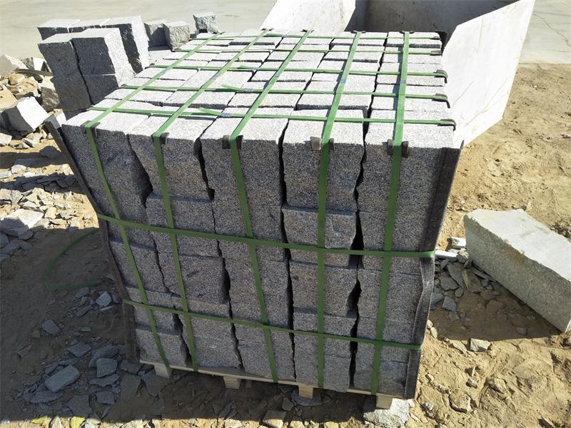 Cubes Grey Granite Flamed Stone