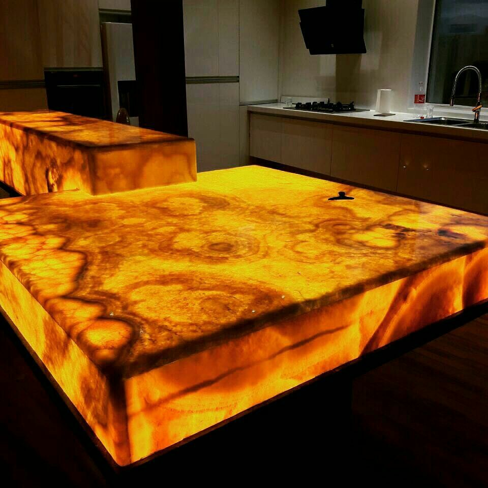 honey onyx countertops