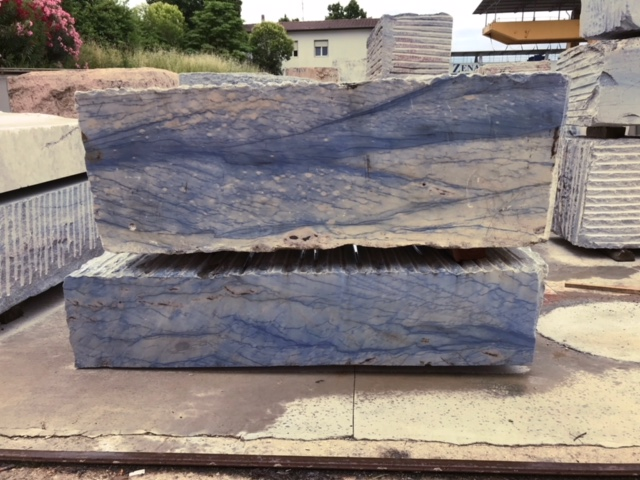 Azul Macaubas Granite Blocks