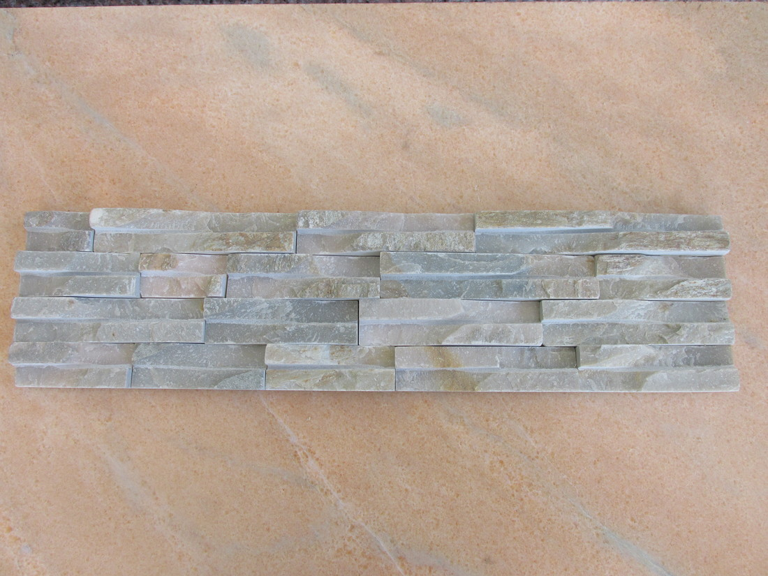 Cheap Yellow Slate Waterfall Wall Cladding Stone