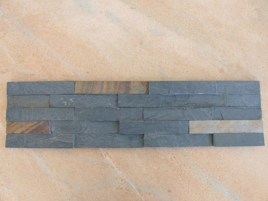 Multicolor Black and Rusty Slate Wall Stone Panels
