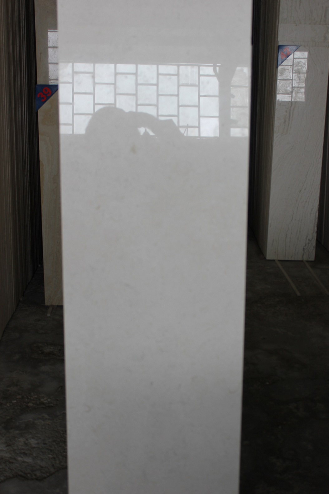 Polished White Marble from Iran