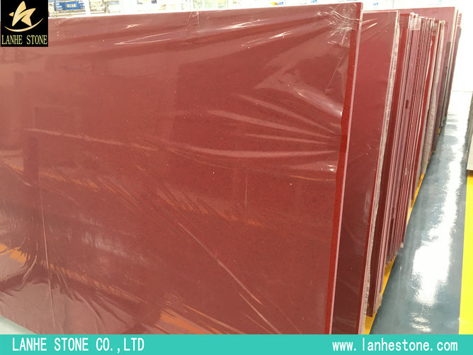 Red Galaxy Quartz Stone Slabs
