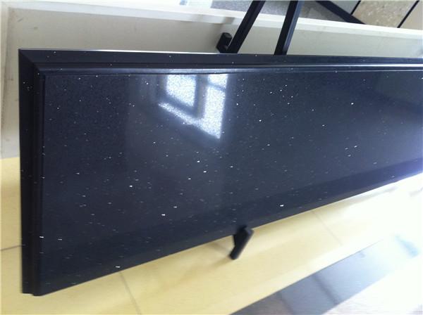 Blue quartz slab countertop