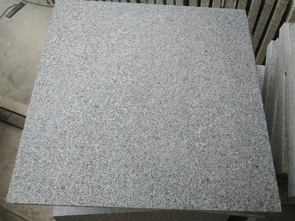 g654 dark grey granite flamed tile