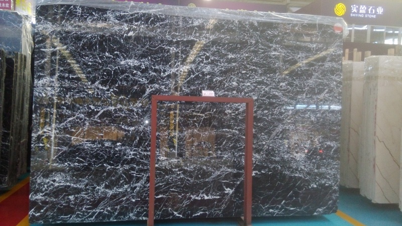 Italy Black Marble Slabs