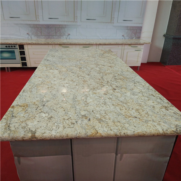 Yellow granite diamond flower granite countertops