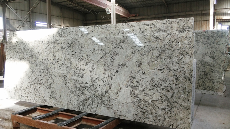 ice white granite countertop