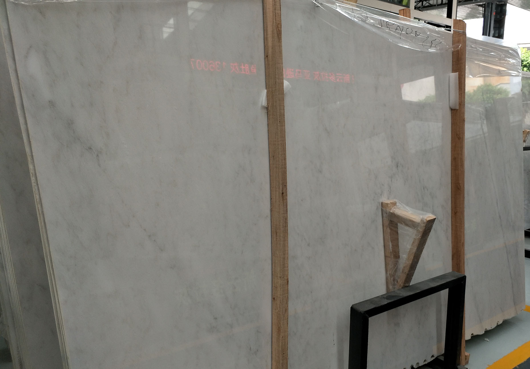 good color oriental white marble slabs