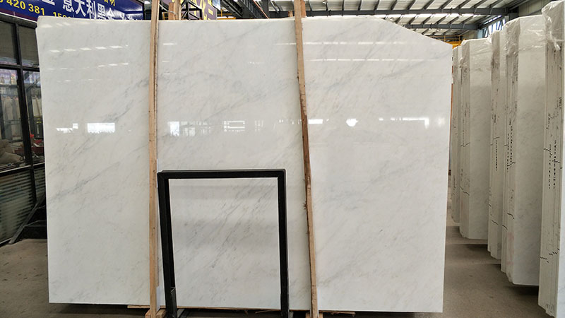 good quality oriental white marble slab