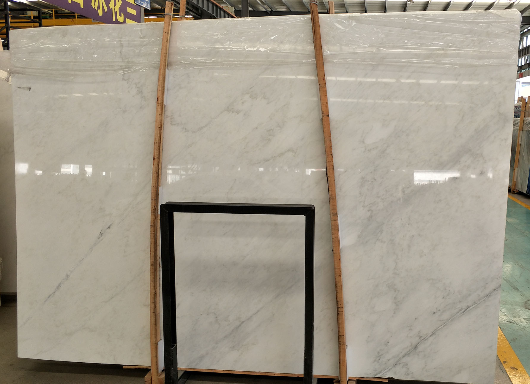 high quality white carrarra slab