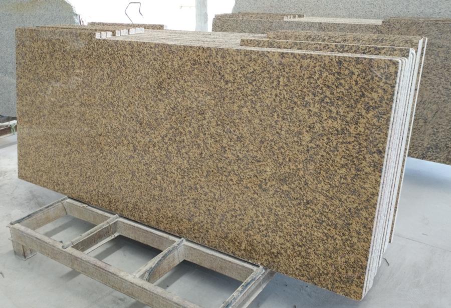 tiger skin yellow granite countertop