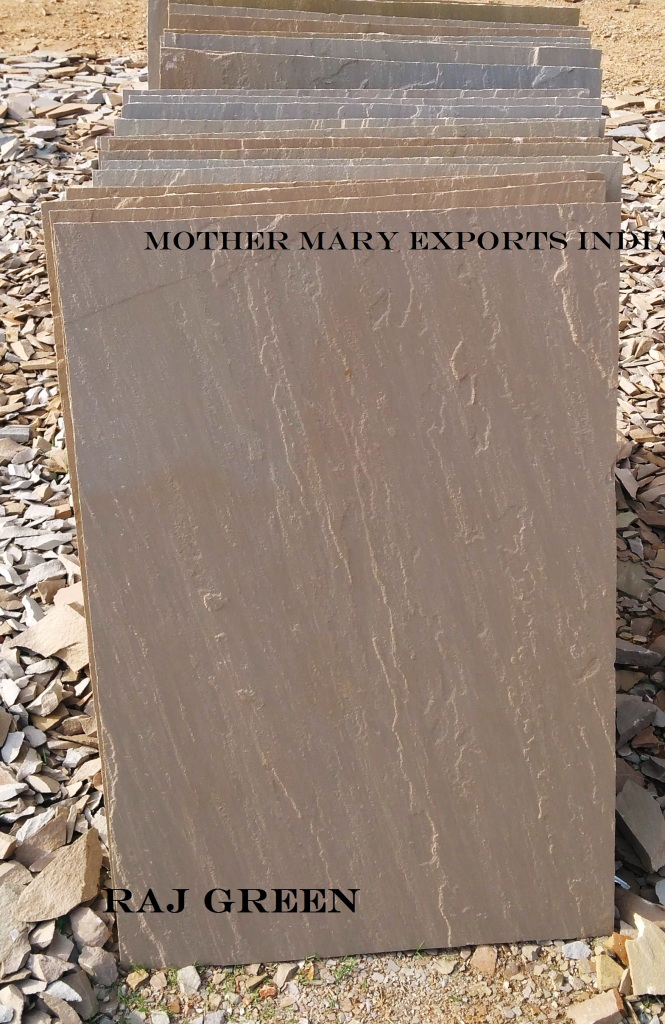 RAJ GREEN SANDSTONE  SLABS  TILES or FLAGSTONE  INDIAN ORIGIN