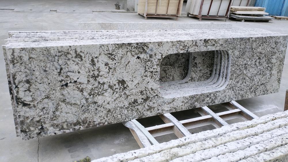 alaska white granite kitchentop