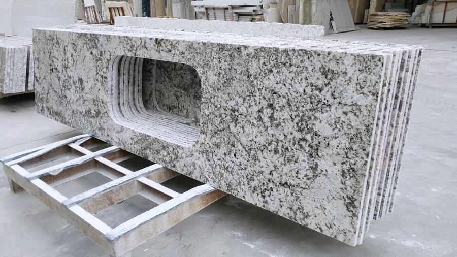 snow mountain silver fox granite countertop