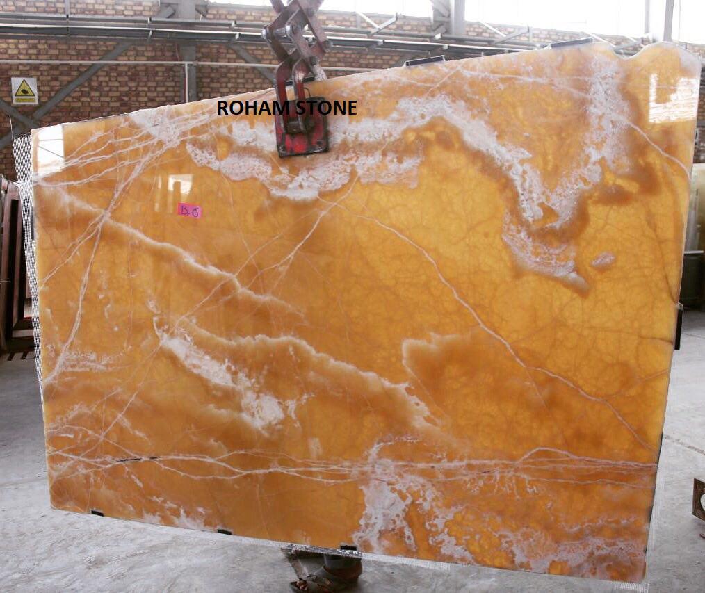 Honey Onyx Stone Slabs Yellow Polished Onyx Stone Slabs