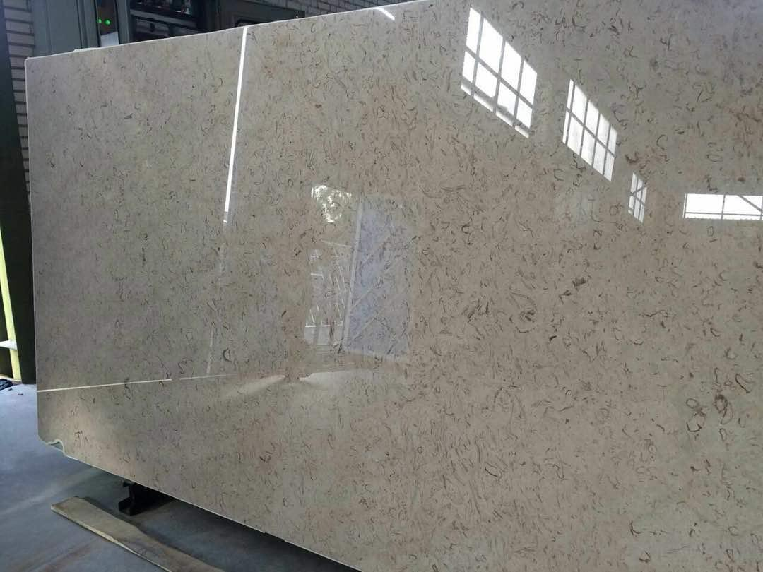 Peacock Marble Stone Block and Slabs Gray and Beige