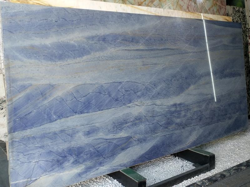 Ice age blue semiprecious stone