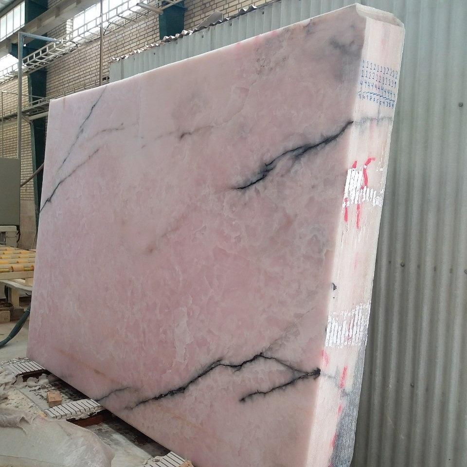 Pink Onyx Slab Polished Onyx Slabs from Iran