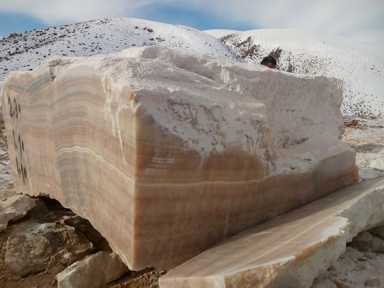 Iranian Natural Yellow Marble Blocks