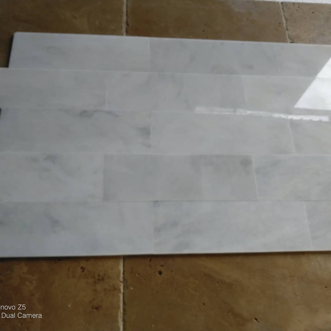 Carara White Venato Polished White Marble Tiles