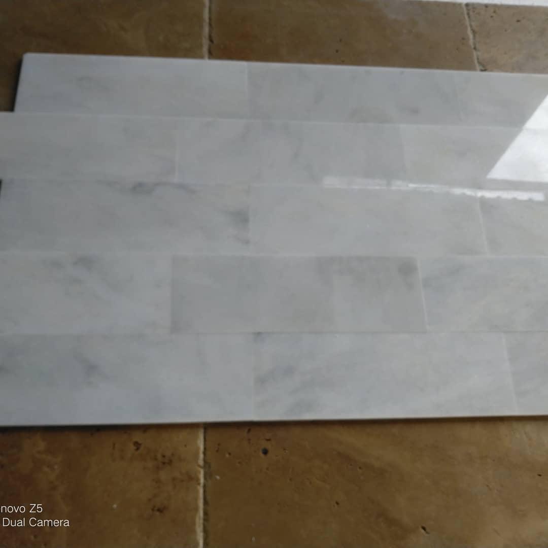 Carara White Venato Polished White Marble Tiles