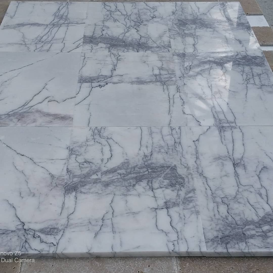 Lilac Marble Tiles White Flooring Marble Tiles