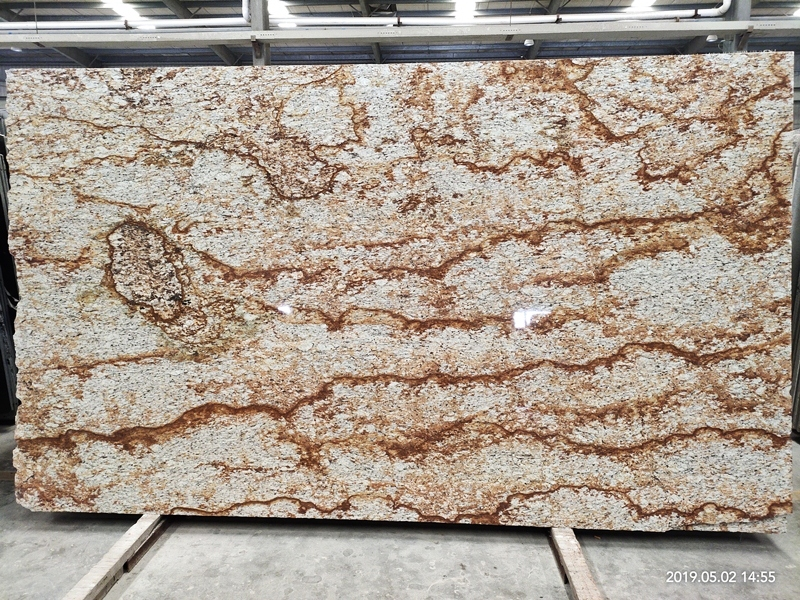 Brazil tropical verniz granite with yellow veins