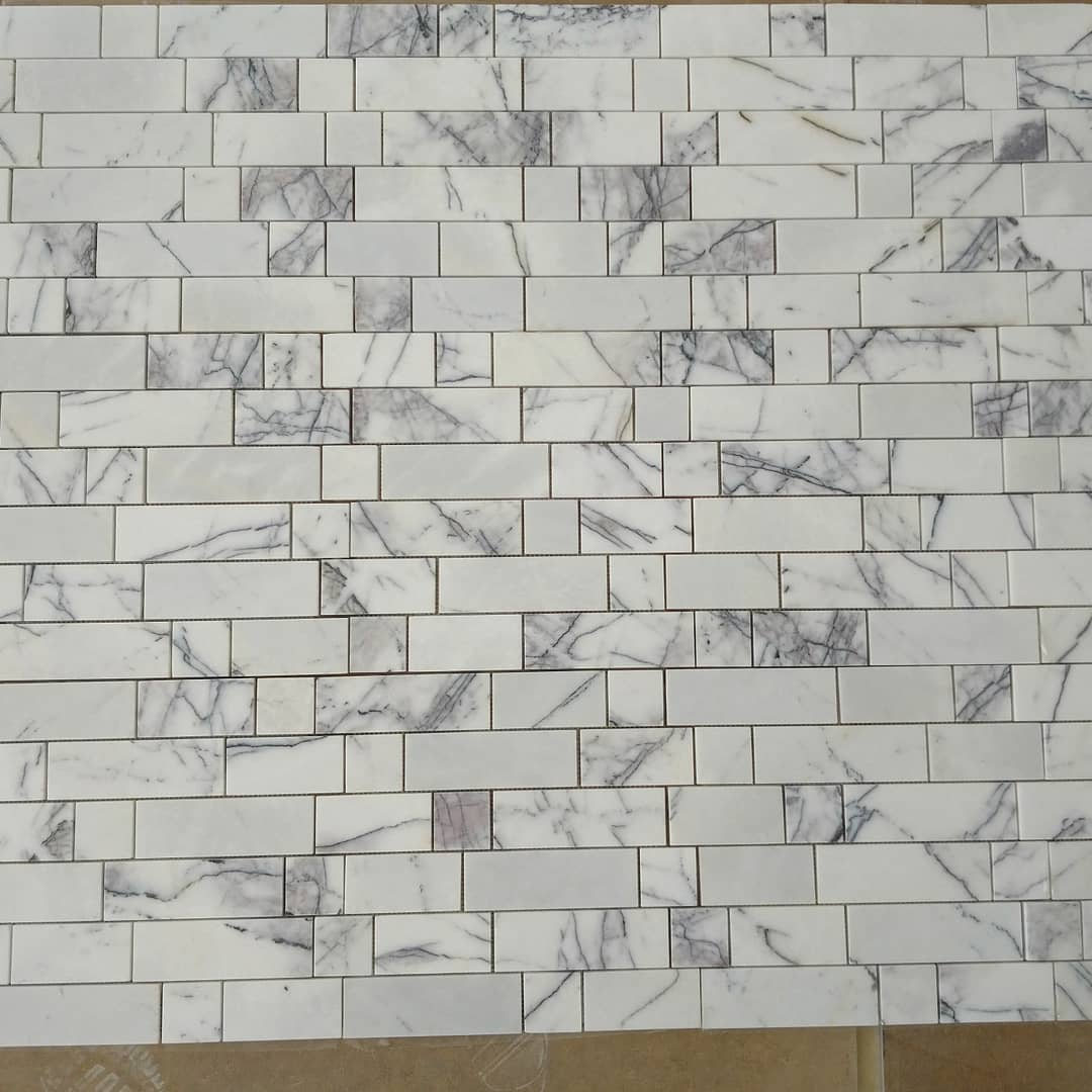 Lilac marble tile mosaic