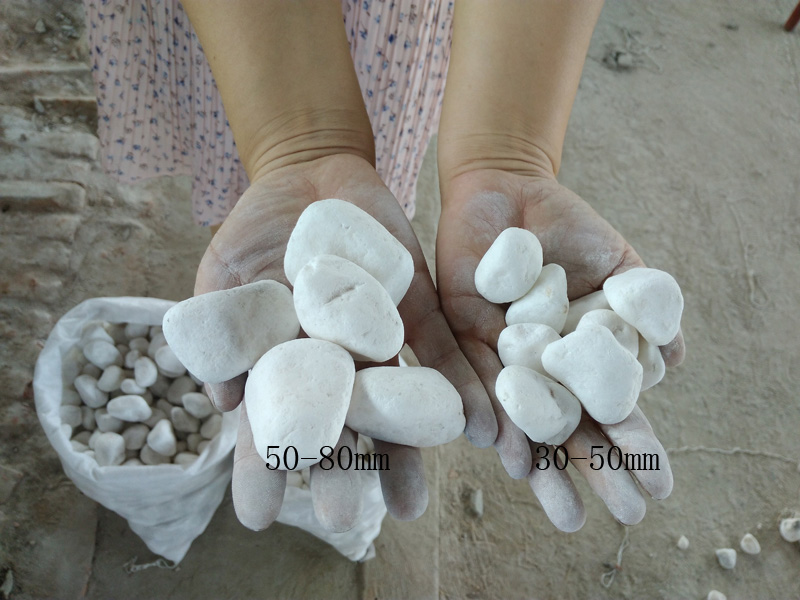 Natural white pebble stone for garden landscaping stones