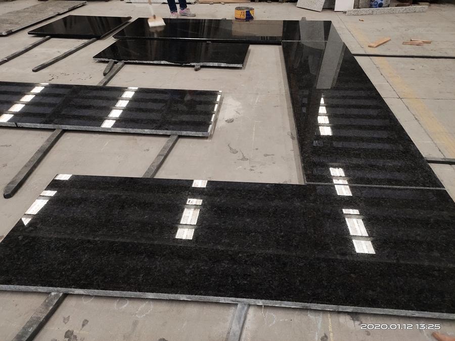 angola black granite countertop