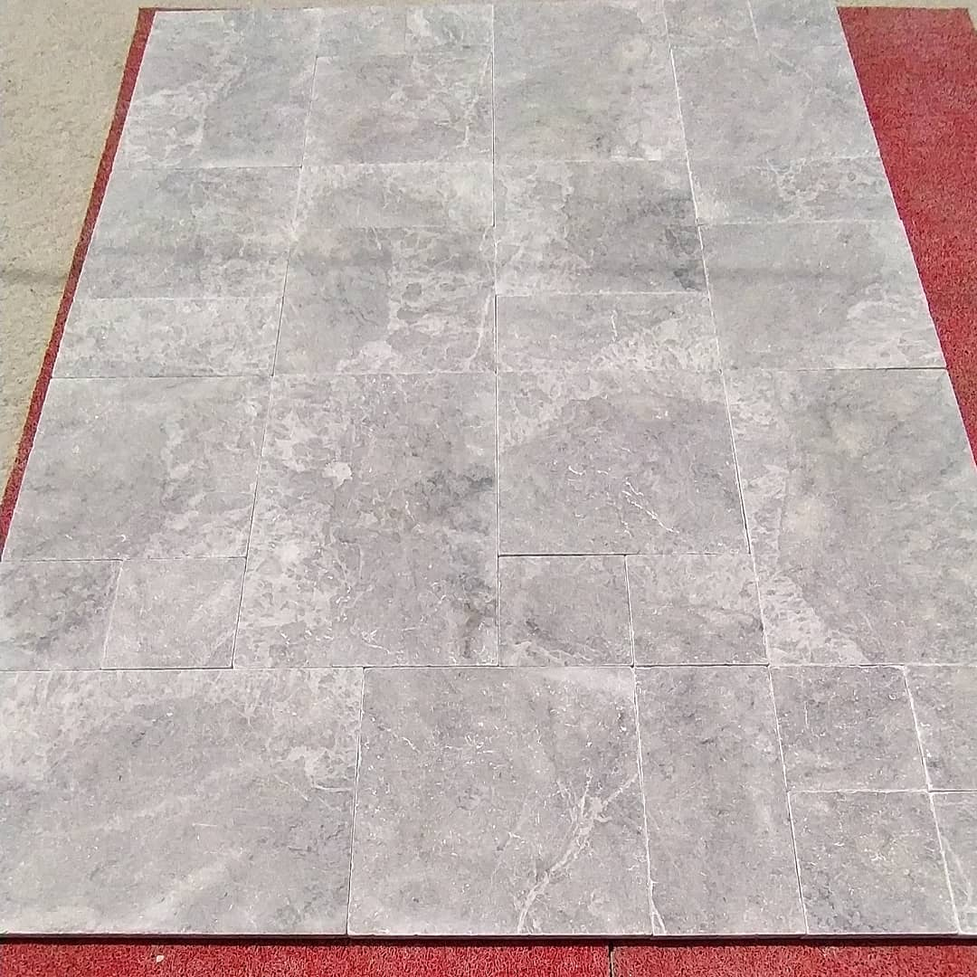Silver marble  paver