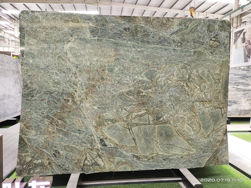 Brazil peacock green quartzite