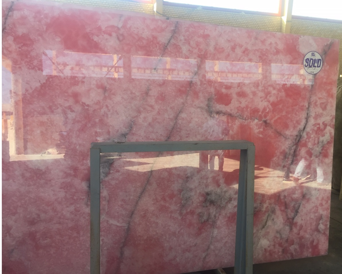 Pink Onyx Slabs and Blocks