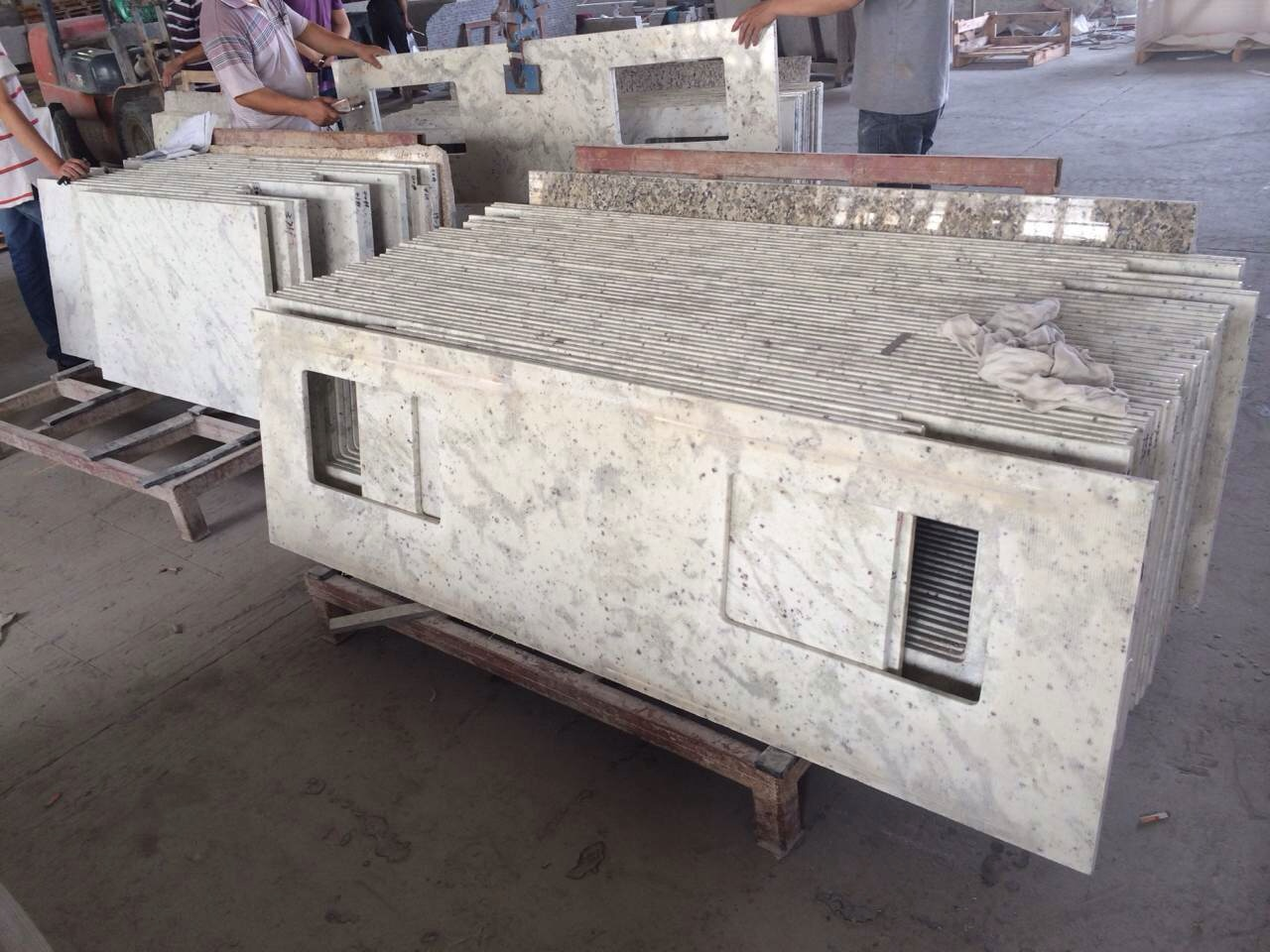 Andromedia White granite vanity top