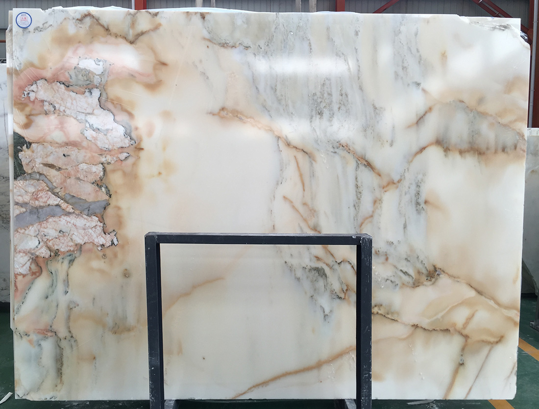Popular White Marble Jade Stone Landscape Painting White Marble Slabs Tiles For Background Wall