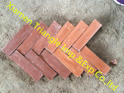 Rectangle 20x6cm Antique Handmade Terracotta Floor Tile