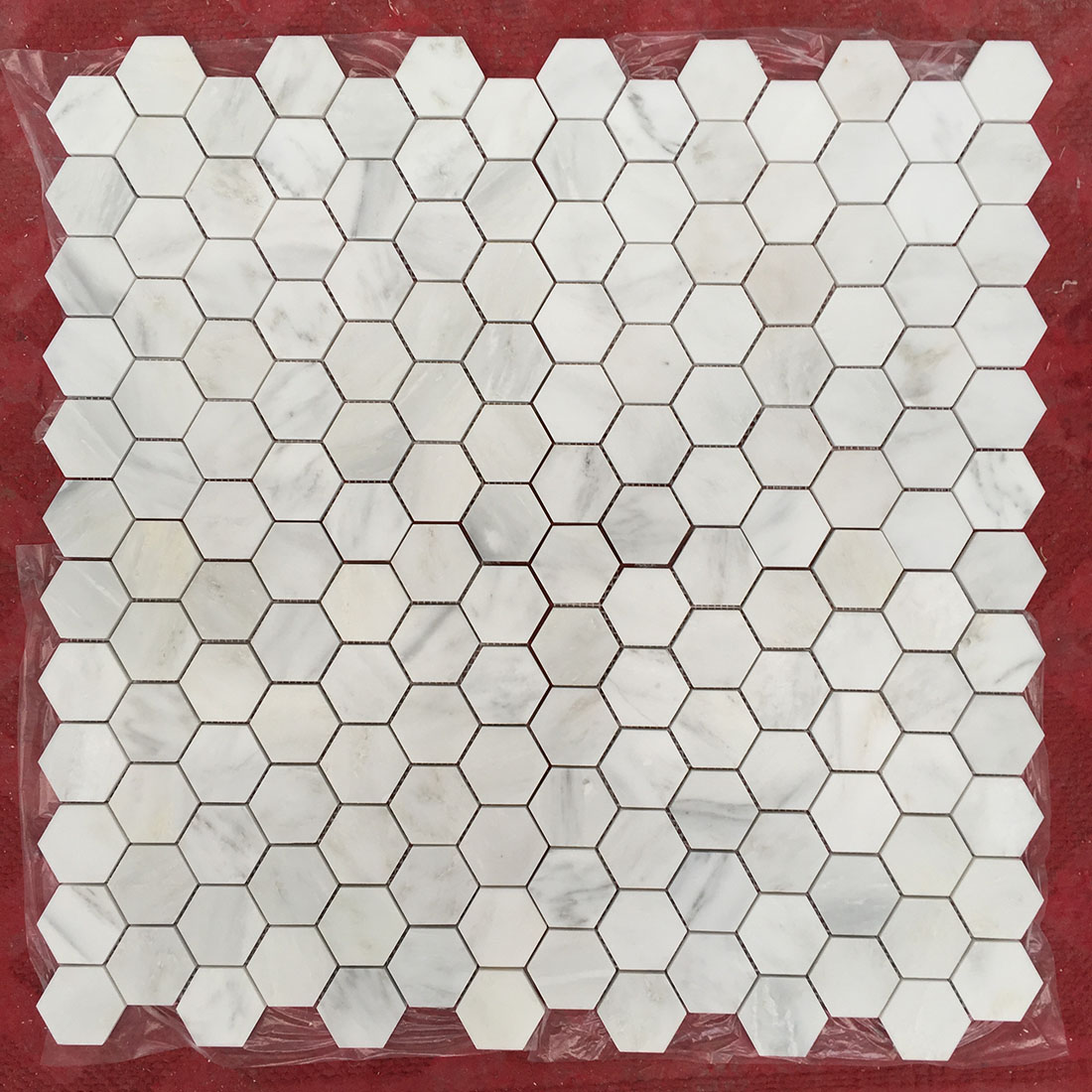 Natural White Marble Mosaics Hexagon