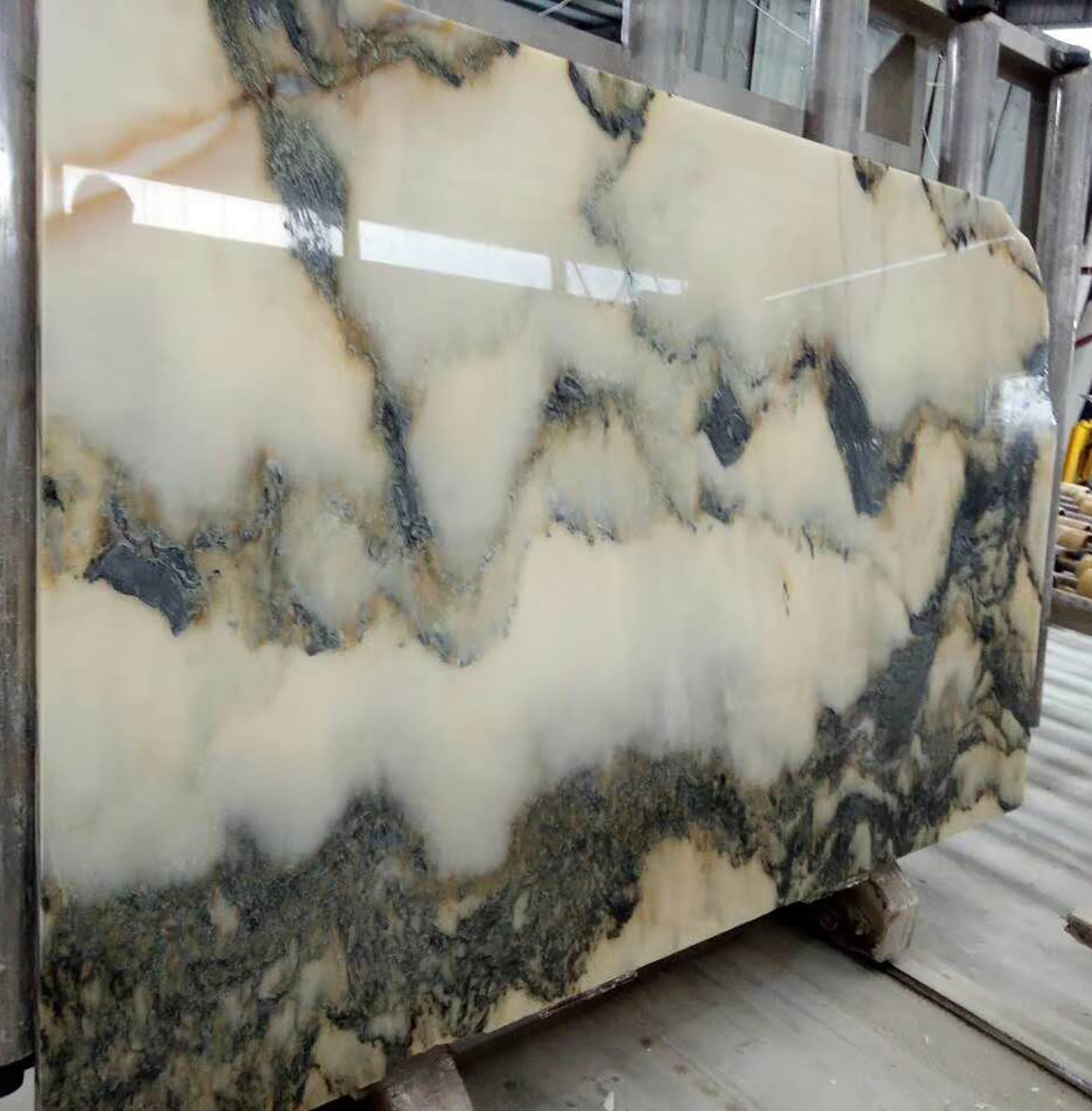 Landscape Painting Marble Slabs With Transmission Of Light