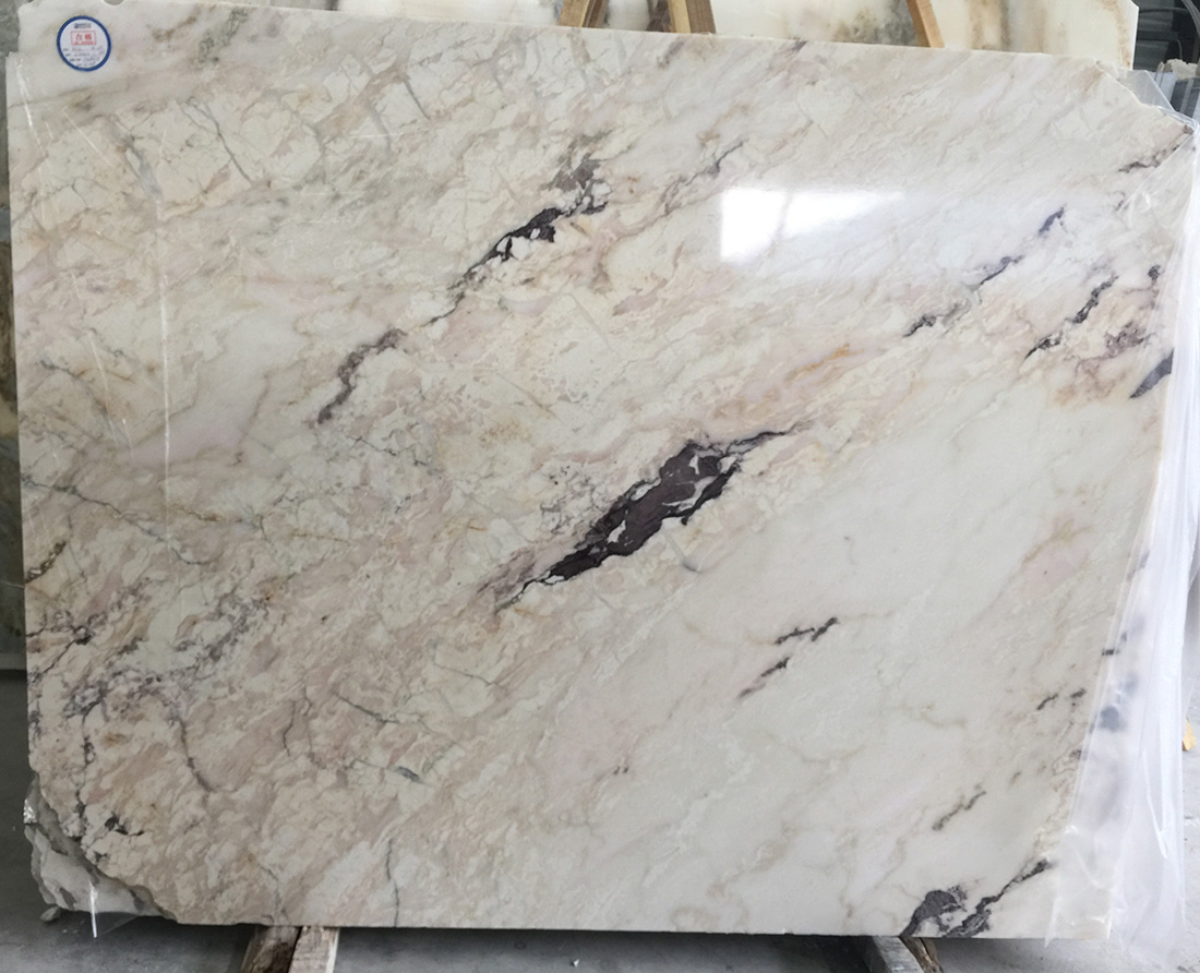 High Quality Amethyst Marble Slabs China White