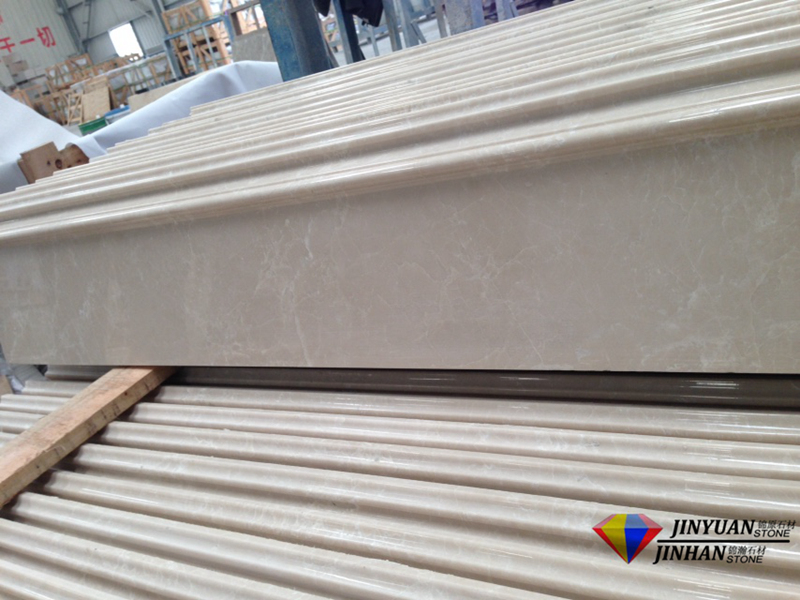 Crema Ella Baiyulan Beige Marble Skirting And Border Molding Line