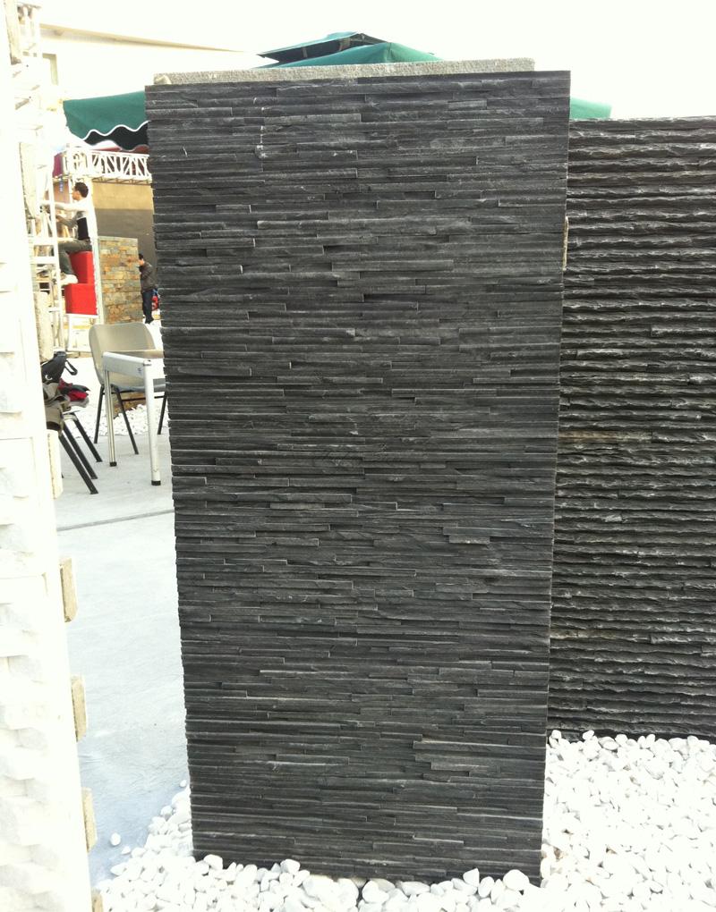 Black slate wall cladding stone