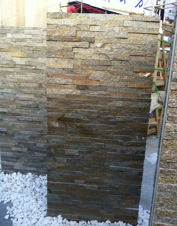 Exterior rusty quartzite wall cladding stone