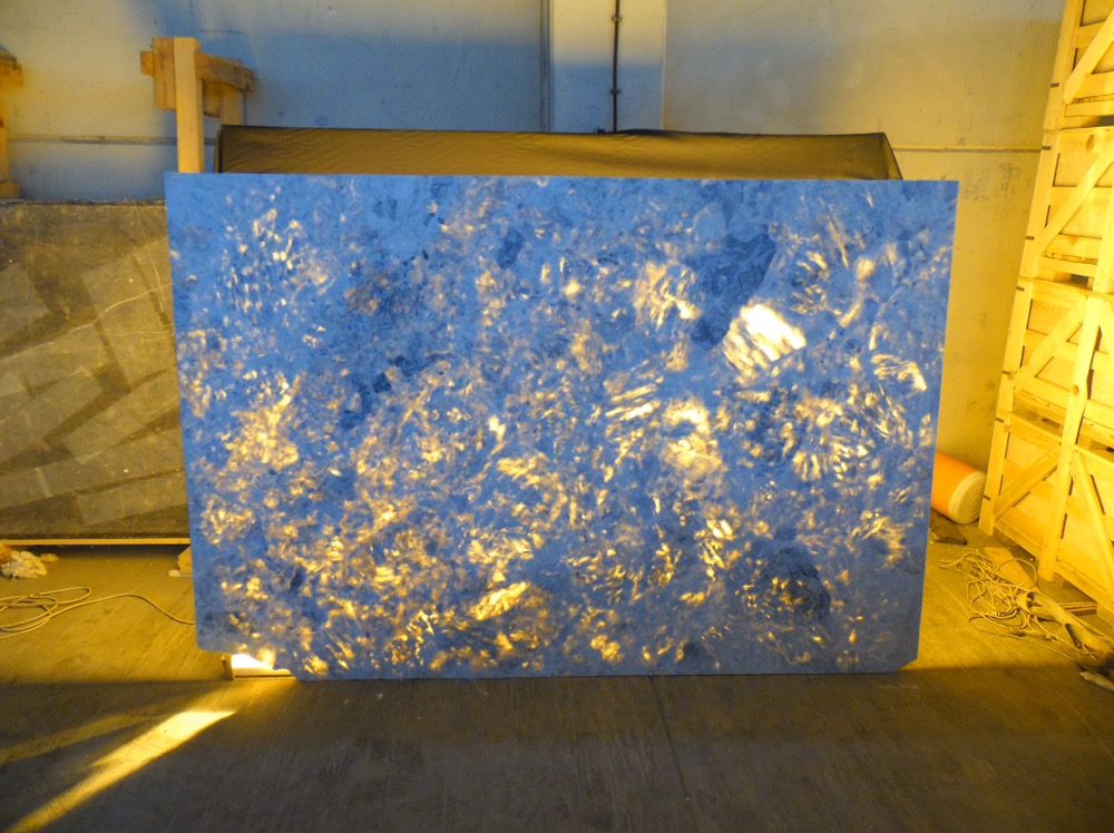 Aqua shadow blue marble