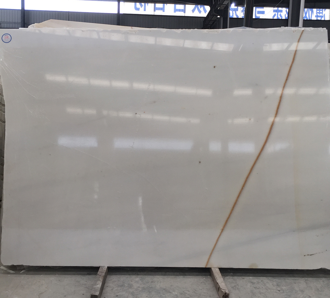Golden Thread Jade White Marble Slabs