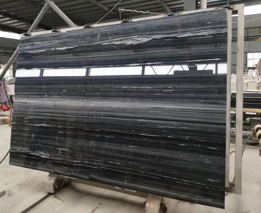 Chinese black wooden marble slabs