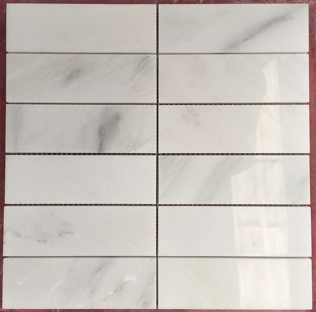 rectangle mosaic tiles oriental white
