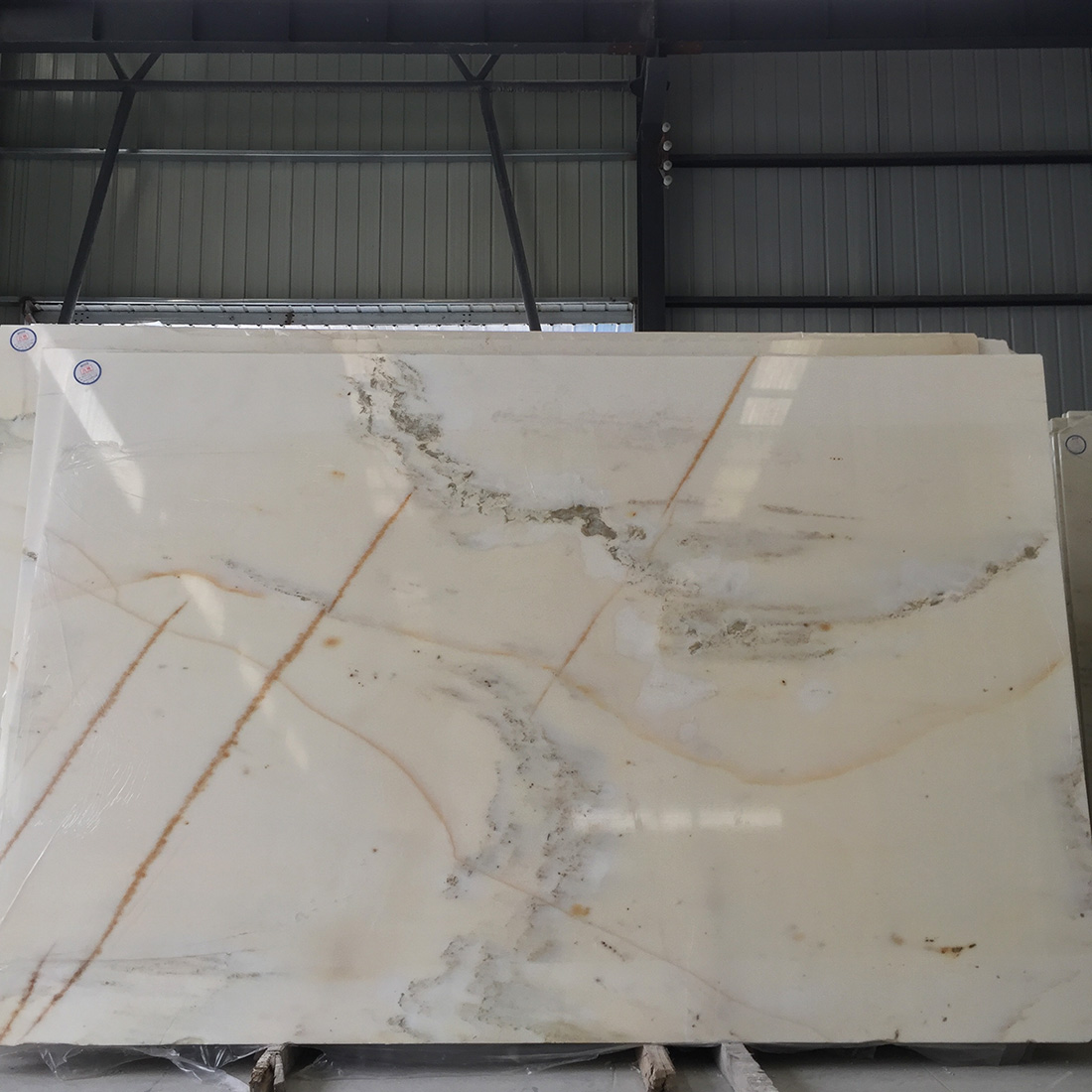 Special Price China White Marble Slabs Landscape Painting