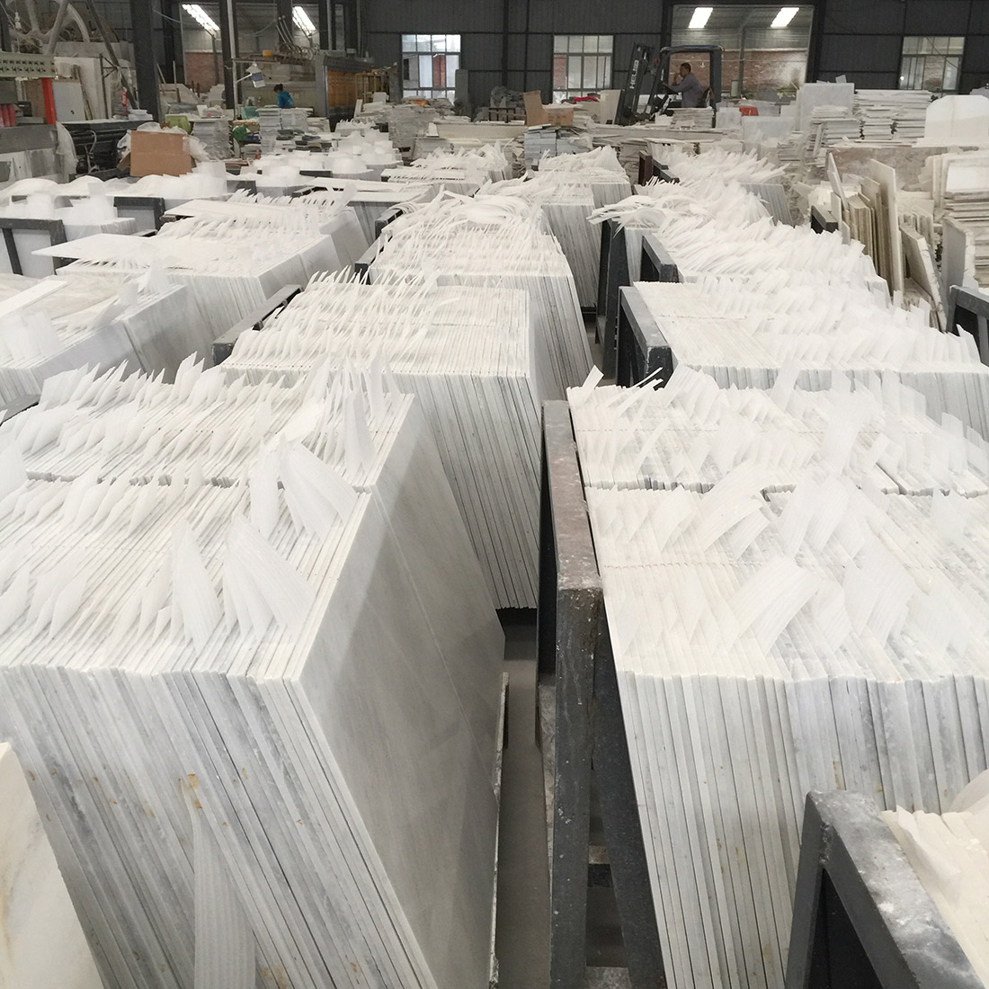 China White marble tiles for project