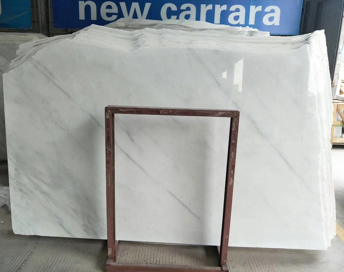 New Carrara White Marble Oriental White Slabs